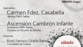 Cartel de la charla 'Dereitos sanitarios e testamento vital', prevista para el 19 de enero de 2019 en Ribadeo