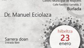 Cartel de la charla de Testamento Vital en Burlada (Navarra)