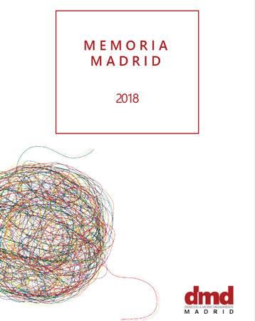Memoria de actividades de DMD Madrid en 2018