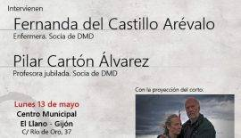 Cartel del acto de disponibilidad de la propia vida en Gijón