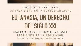 Cartel del acto sobre la eutanasia en Ciudad Real