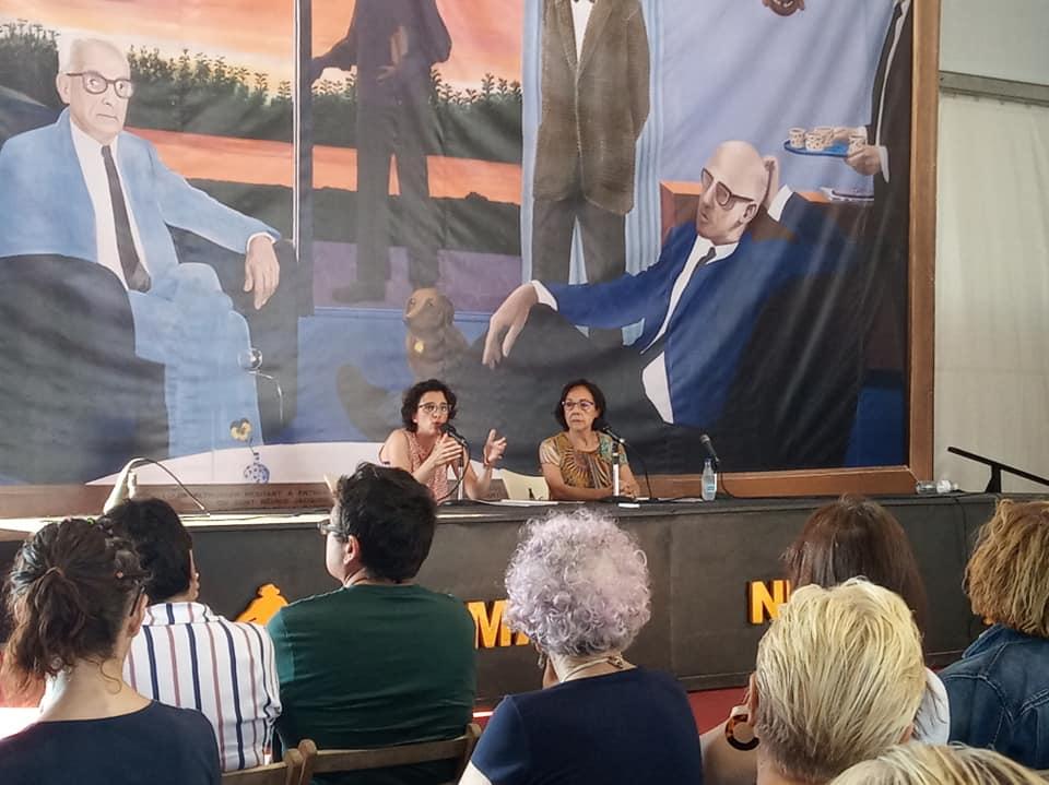 Noelia Ordieres y Fernanda del Castillo en la Semana Negra de Gijón