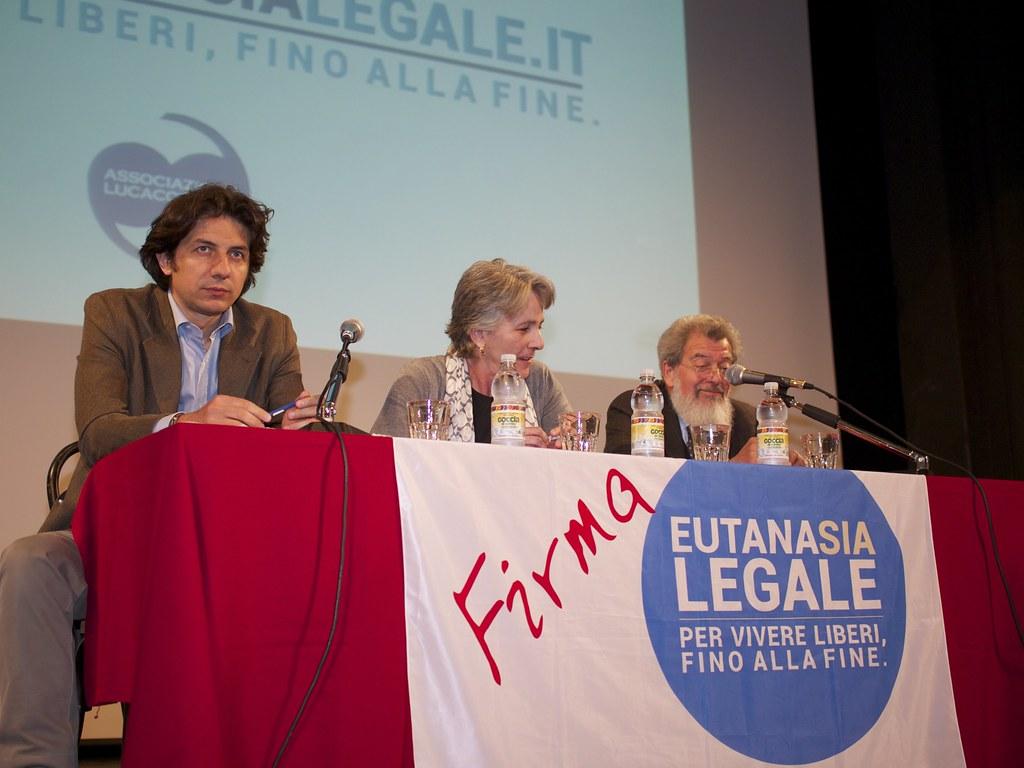 Marco Cappato en un acto a favor de la eutanasia