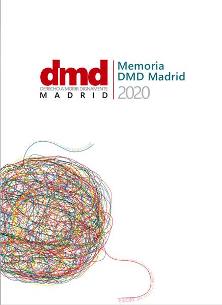 Portada de la memoria de actividades de DMD Madrid en 2020