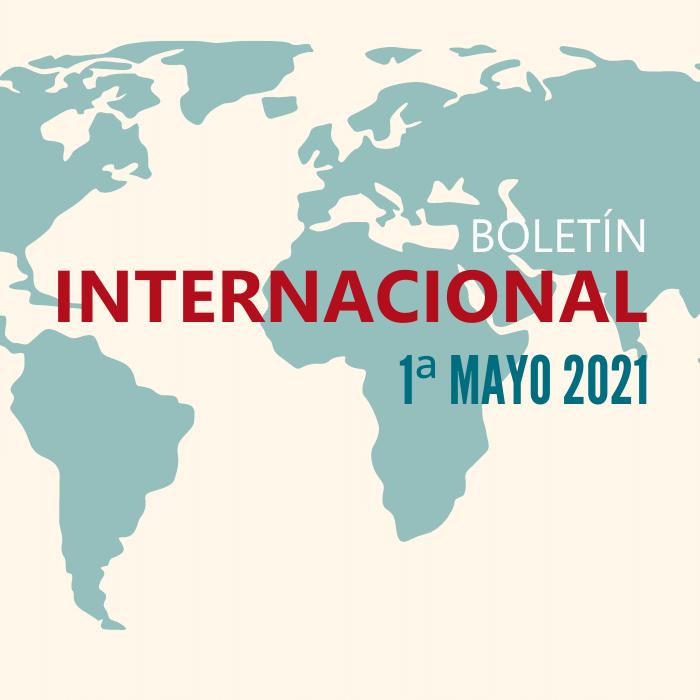 cartel de revista de prensa internacional 1ª de mayo 2021