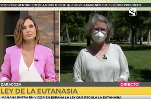 """Featured image for """"Reportaje sobre la Ley de Eutanasia en Aragón TV"""""""