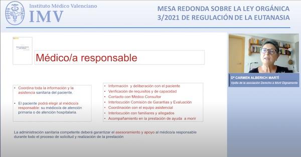 """Featured image for """"Mesa redonda sobre la Ley de Eutanasia en el Instituto Médico Valenciano"""""""