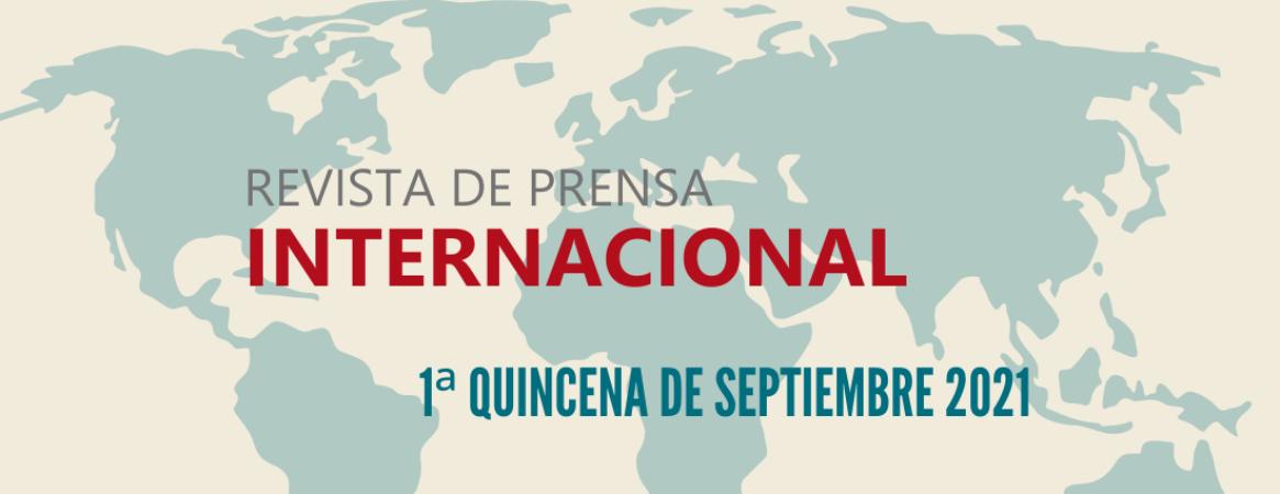 Cartel de la revista de prensa internacional de la 1ª quincena de septiembre de 2021